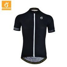 Emonder Мужская велосипедная Джерси удобный велосипед высокого качества велосипедная рубашка черный белый быстросохнущая спортивная одежда короткий рукав