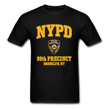 New York Police Logo Newest Men T-shirts 99th Precinct Brooklyn NY Normal Tops Tees Summer Autumn Vintage Style Tee Shirt