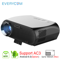Everycom GP100 UP 3500Lumens LED Projector Full HD WiFi Android 4K Video Proyector Option Android Smart WiFi Beamer Home Theater