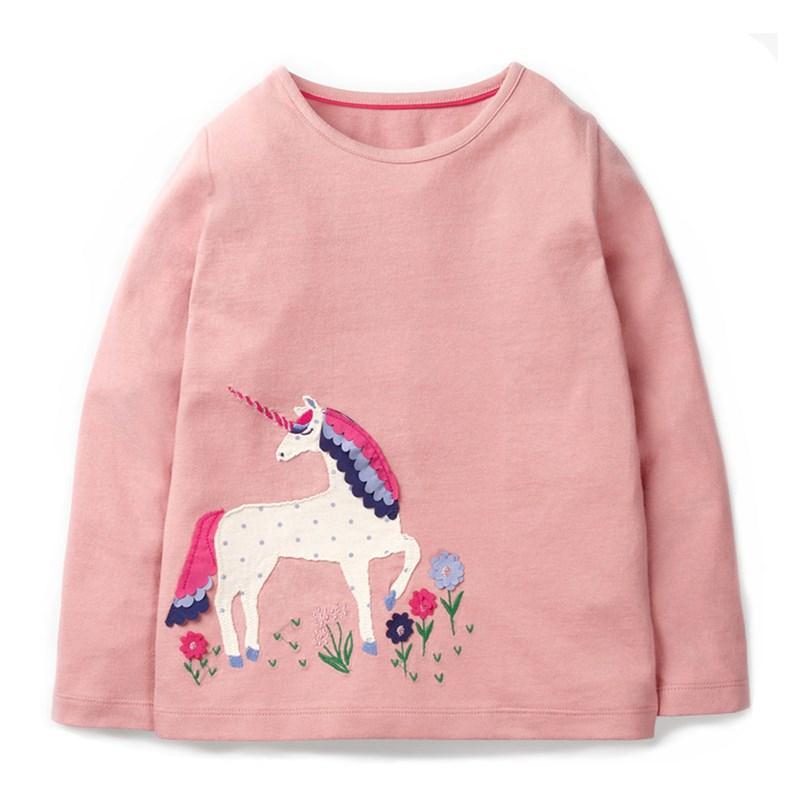 VIDMID Girls t-shirt Barn T-shirt Baby Girl Långärmad jacka cardigan tröjor Blus kläder barn tecknad bomullströja
