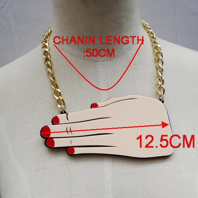 Choker Chains Cute Hand Pendants Necklace Bijoux Women Jewelry Accessories