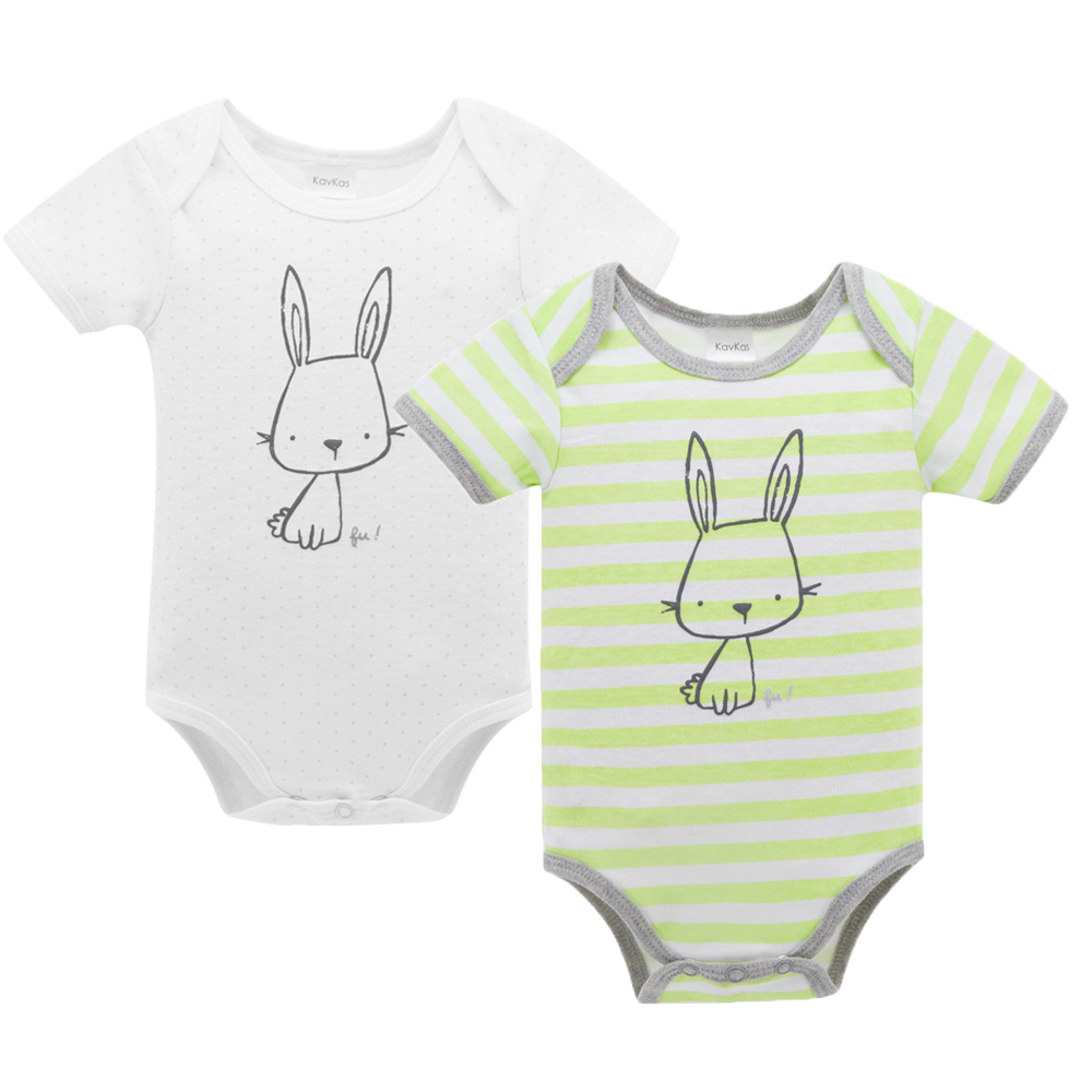 KAVKAS Cotton Baby Rompers Summer Baby Girl Clothes Newborn Baby Clothes Baby Boy Clothes Infant Jumpsuits Letter Bebe Clothes