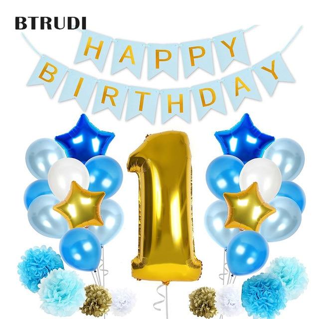 Voorkeur Babys Eerste Verjaardag Decoraties 1st Verjaardag Meisje jongen &QM33