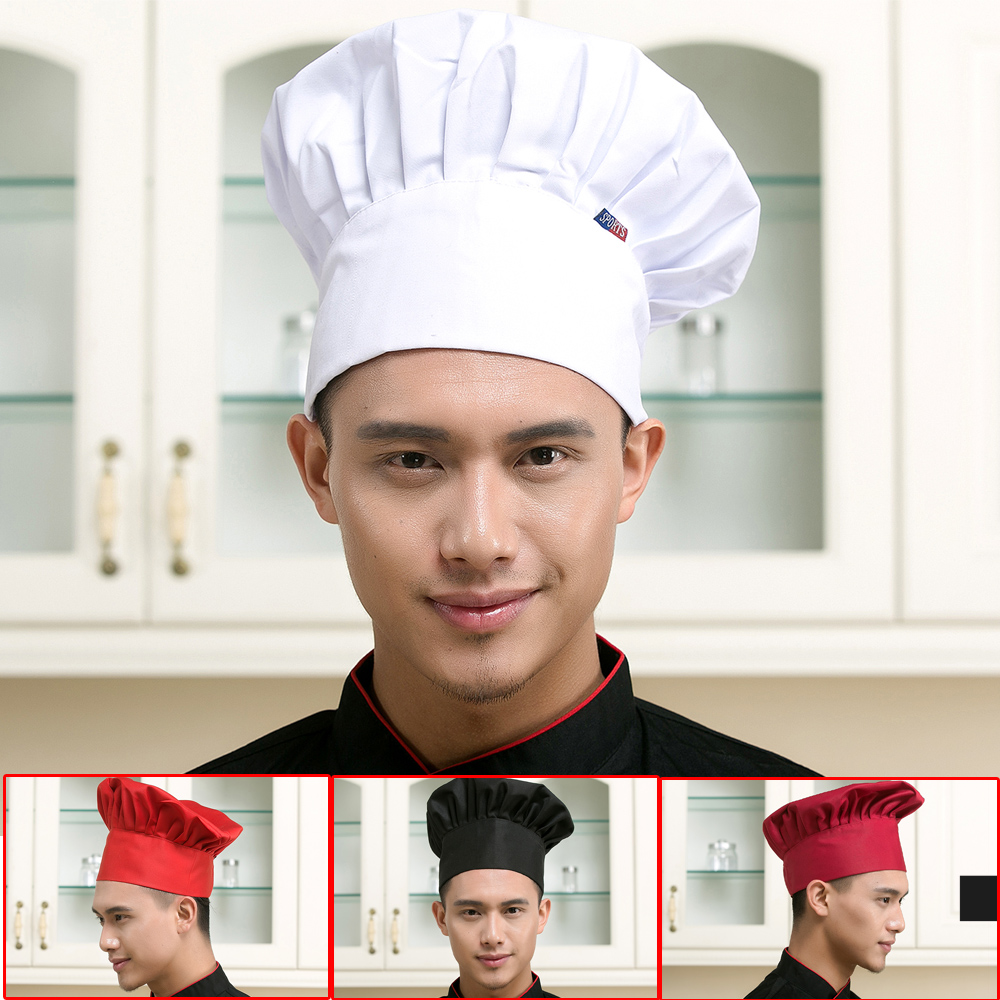 Mushroom Cap Adjustable Hotel Restaurant Chef Hat Cafe Restaurant Chef Service Work Hat Cap