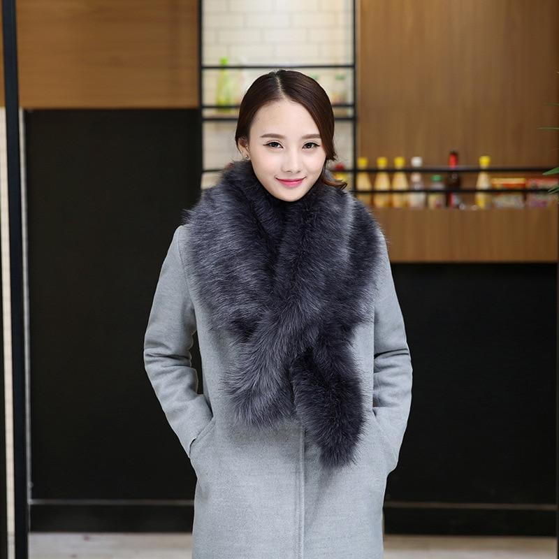 Women  Winter Real Rabbit fur Scarf Stole Cape Collar Wrap Scarves Shawl