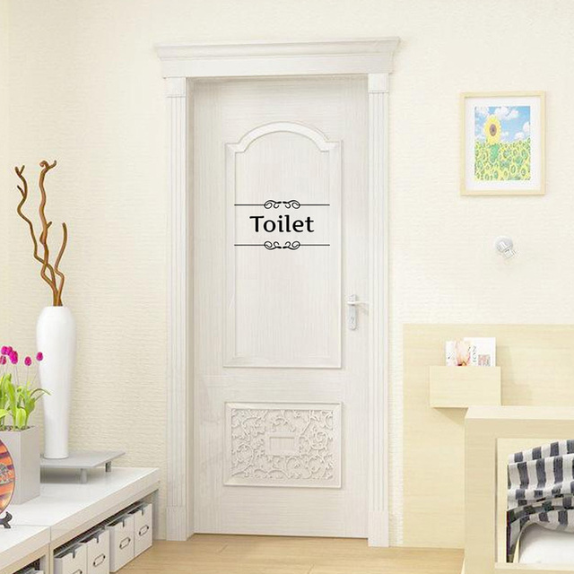 New Hot Sale Vintage Wall Sticker Bathroom Decor Toilet Door Vinyl Decal Transfer Vintage Decoration Quote  sc 1 st  AliExpress.com & New Hot Sale Vintage Wall Sticker Bathroom Decor Toilet Door Vinyl ...