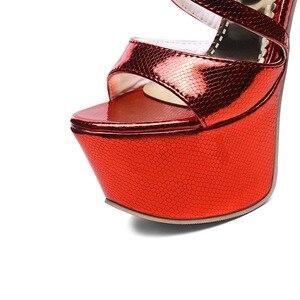 Image 5 - LANYUXUAN Big Size 31  48 Sandals Ladies Platforms Fashion Party Shoes Sexy Open toe Super High Heel(16CM)Shoes Women Pumps 202