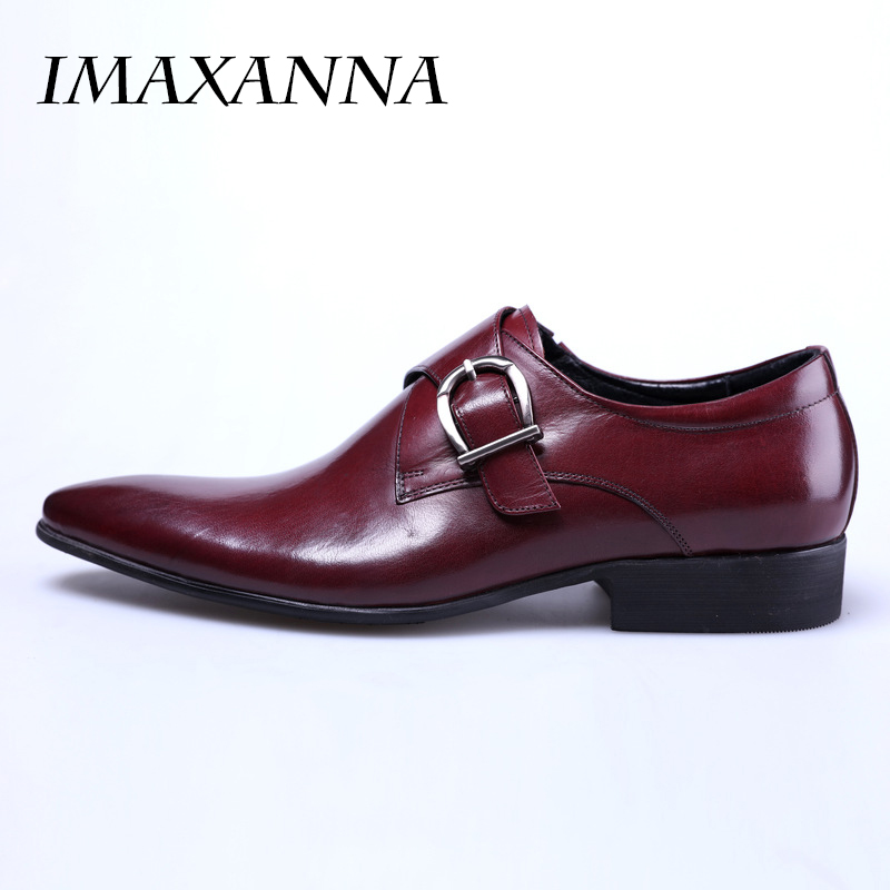 dbc9ec787 IMAXANNA جديد الرجال أحذية من الجلد رجل شقة الكلاسيكية الرجال اللباس أحذية  جلدية الايطالية الرسمي أحذية الرجال أكسفورد زائد حجم 38 48 في IMAXANNA جديد  ...