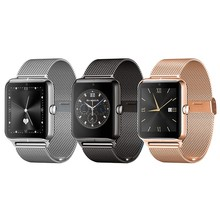Neueste metall z50bluetooth smartwatch für samsung touch heart rate Test Unterstützung SIM Tf-karte NFC Call Reminder PK DZ09