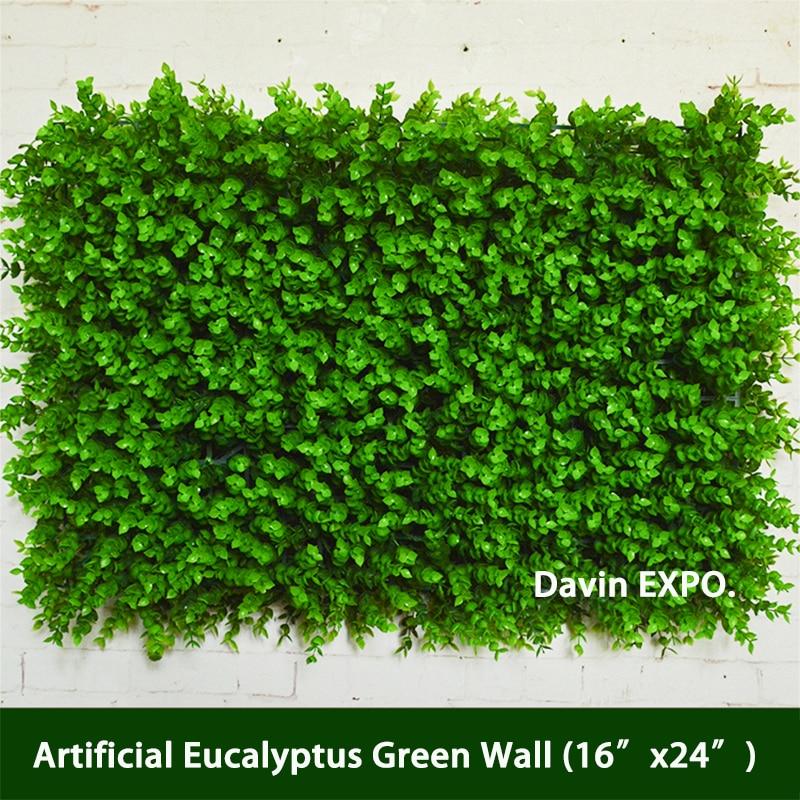 New Artificial Eucalyptus Green Grass Flowers Wall