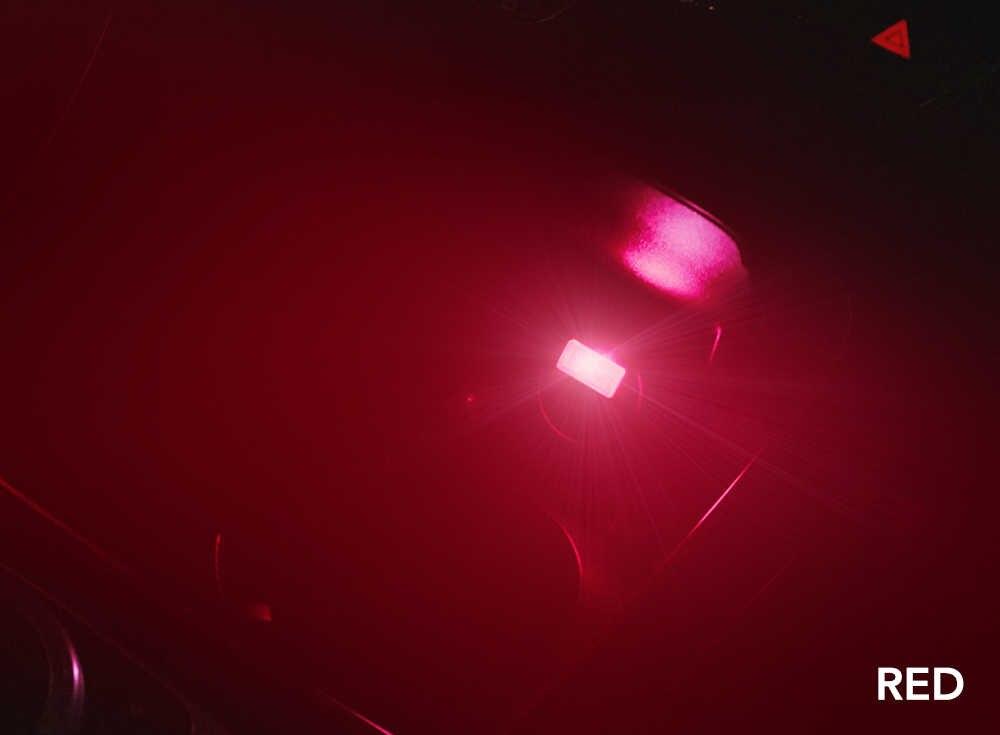 1 adet Araba USB LED Atmosfer Işıklar Dekoratif Lamba Acil Aydınlatma Evrensel PC Taşınabilir Tak ve Çalıştır Kırmızı/Mavi /beyaz