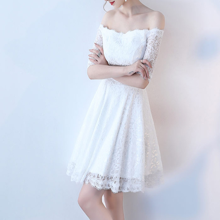 15 20 year Teen Girl Dress Lace Sleeveless Dress Teenagers Party Prom Gowns  Dresses Girl clothes woman Sexy Bare shoulder Dress -in Matching Family  Outfits ... ce53ea42c172