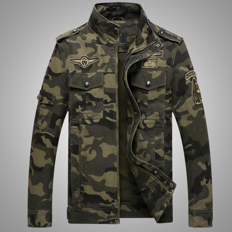 Image 2 - Army Military jacket men camouflage Tactical Camouflage casual fashon bomber Jackets-in Jackets from Men's Clothing