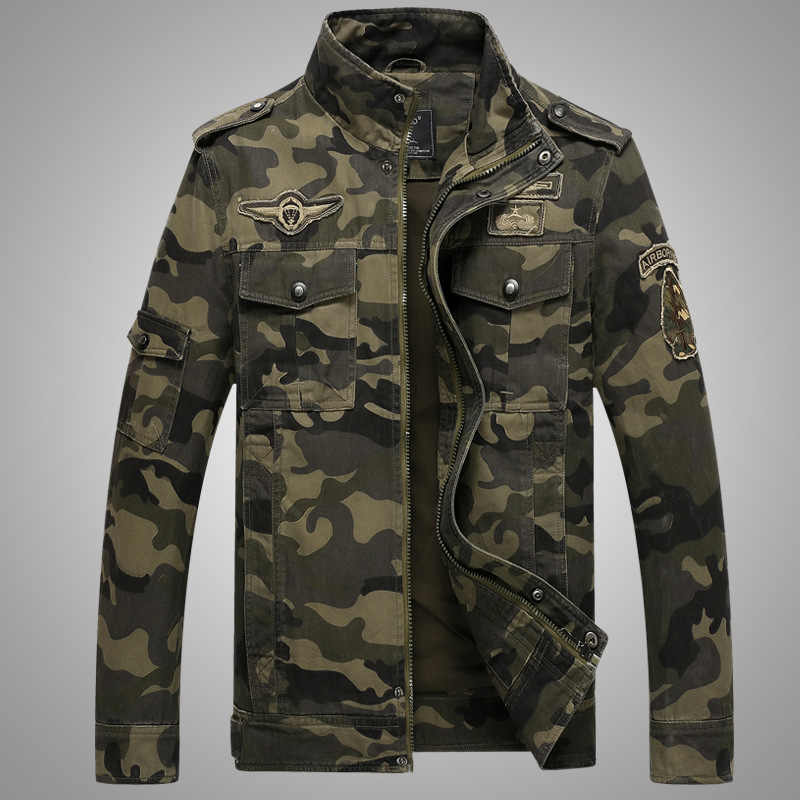 Chaqueta militar para hombre camuflaje táctico camuflaje casual fashon bomber chaquetas