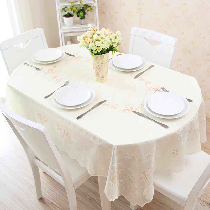 buy telescopic folding table oval pvc table cloth waterproof anti oil anti hot. Black Bedroom Furniture Sets. Home Design Ideas