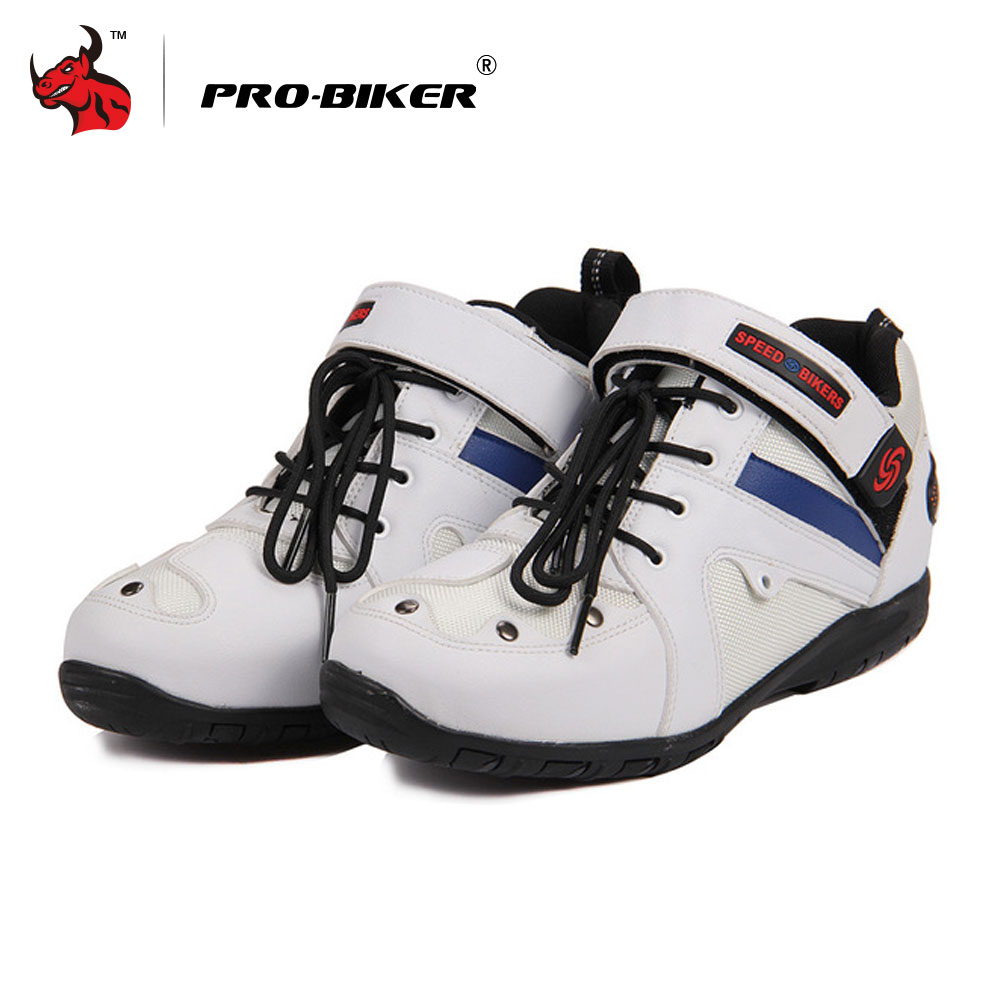 PRO-BIKER motorcycle SPEED Boots For MotorcyCle Racing Motocross Boots Men's Obillo Motorcycle Shoes цена