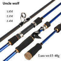 MH Super Hard Spinning Rod Line Wt 10 20Lb Baitcasting Rod Lure Rod 20 80gHand Fishing