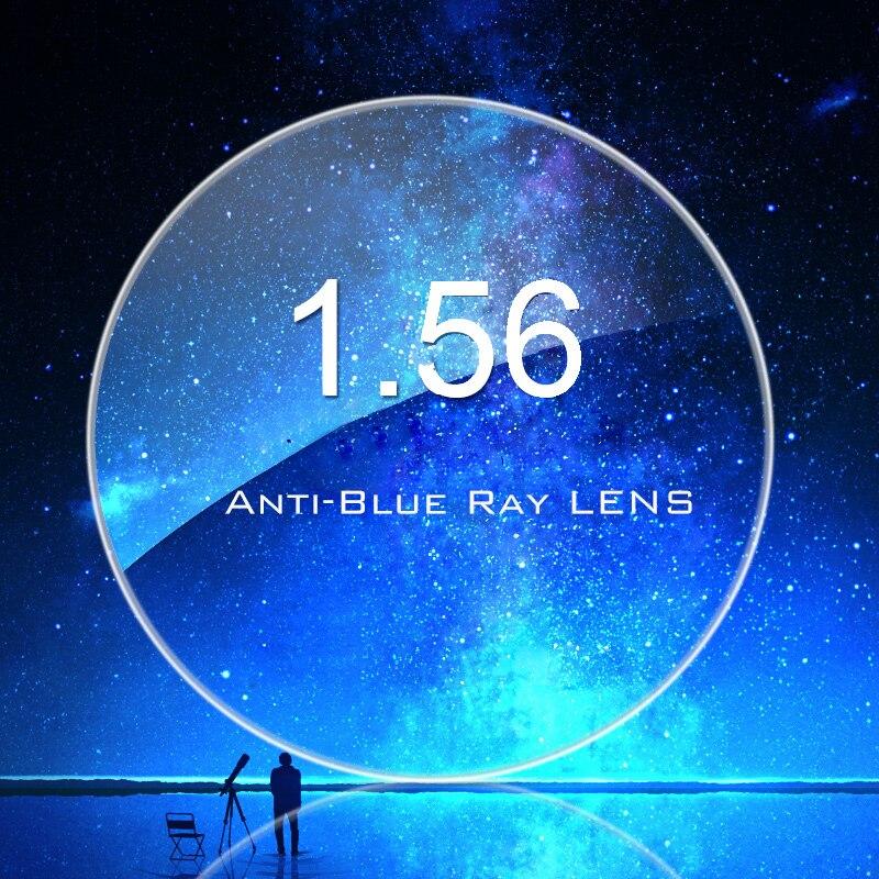 1,56 Асферические анти Синие лучи одиночное видение для близорукости/дальнозоркости 4,00-0,00 градусов