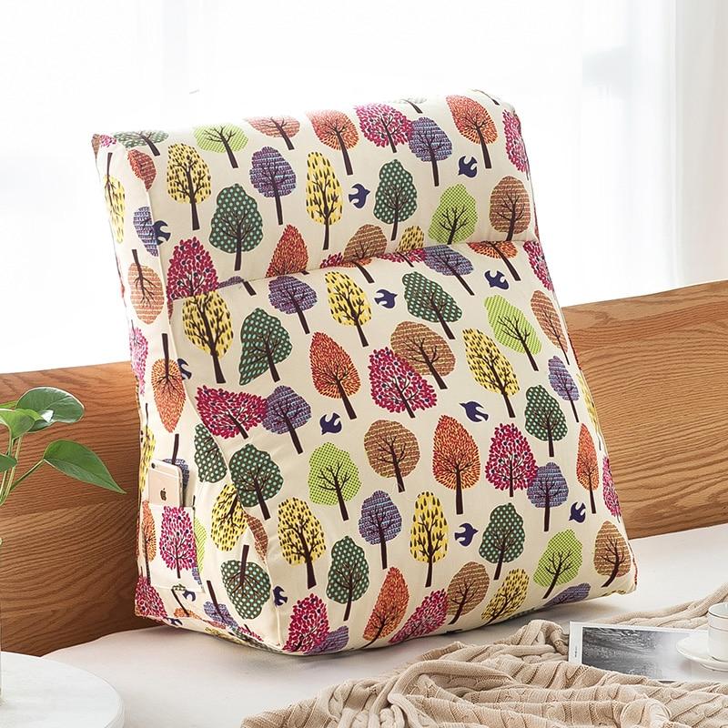 Triangular Large Cushion Pillow Waist Back Big Sofa Bed Comfortable Backrest Pillow Backrest Modern Home Decor 6KD119