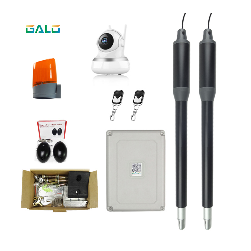 An aluminum design For home use Dual Swing Gate Opener Kits with wifi camera Optional Remote