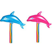 2 Colors/Set Inflatable Cartoon Dolphin Toy Sport BangBang Stick Outdoor Fun Hot Toys Children Birthday Party Favors Game Hammer