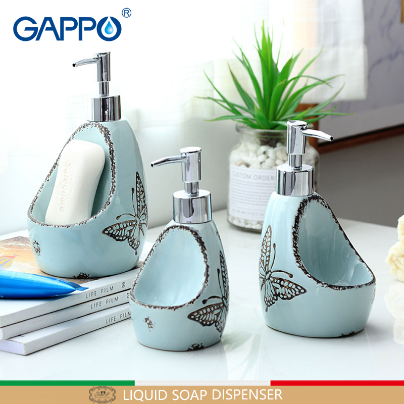 GAPPO liquid soap dispenser toilet ceramic shower liquid dispensers bathroom shower bottles containers brushed dispensers все цены