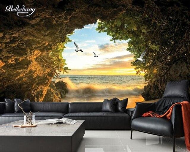 Beibehang 3D Papier Peint Murale Grotte Espace Dure de