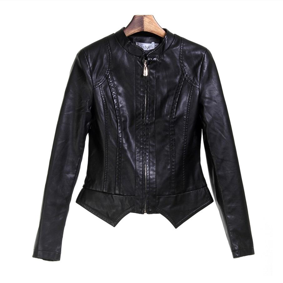 Leather jacket punk - Brand Fashion Women Leather Jacket Pu Haulage Motor Coat Temperament Leather Jacket Women Solid Punk Style
