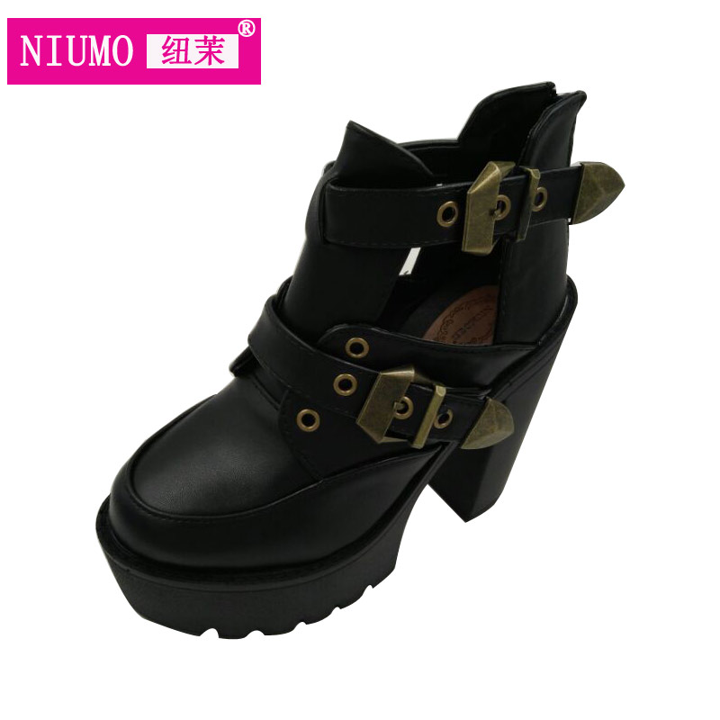 Autumn and winter with the new loose cake T stage Martin boots 14cm high heels Night club plus velvet boots shoes dunlop winter maxx wm01 205 65 r15 t