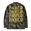 2016 Outono Inverno Pablo Camuflagem Homens Kanye West Yeezy Hiphop Paul Casaco Streetwear Jaqueta Militar Verde Do Exército Jaqueta