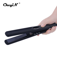 Cheapest prices Infrared 3D Floating Ceramic Hair Straightener Flat Iron Negative Ions Professional Hair Care Straightening Iron LCD Display P00