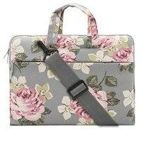 MOSISO Canvas Fabric Laptop Shoulder Messenger Handbag Case Cover Sleeve For MacBook Air Pro Surface 11