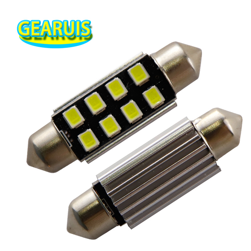 100X Festoon C5W 31mm 36mm 39mm 41mm Canbus 8 SMD <font><b>2835</b></font> <font><b>LED</b></font> No error <font><b>150MA</b></font> No error Car Interior Light Dome White DC 12V image