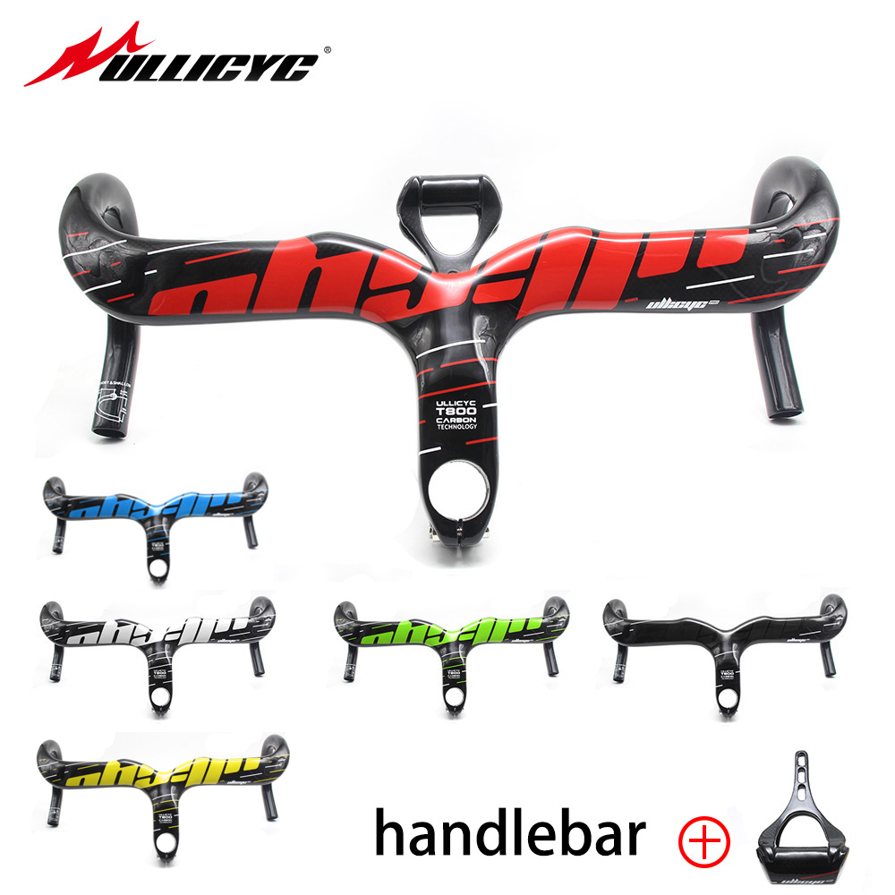 ULLICYC Brand Carbon Road Bicycle Handlebar highway integrated Handle Bars Carbon Road Handlebar with stem manillar