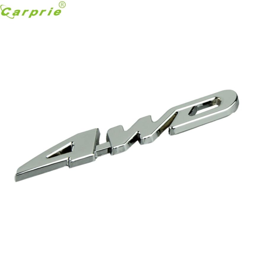 CARPRIE Car Metal Chrome 4WD Displacement Emblem Badge All Wheel Drive Auto Sticker Jul.4