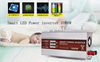 HOT Smart LED Display 1000W Modified Sine Wave Power Inverter Converter DC 12V to AC 220V +USB 5V Charger for Phone /Mp3