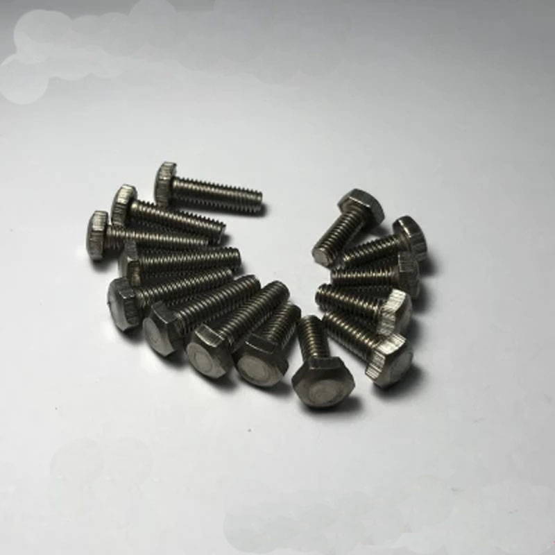 2pcs <font><b>M10</b></font> <font><b>titanium</b></font> Hexagon <font><b>Screw</b></font> Pure <font><b>titaniums</b></font> Corrosion resistant bolt 15mm-60mm Length image