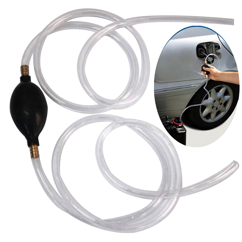 Auto Car Siphon Syphon Hose Tube Liquid Transfer Manual Hand Pump Tools For Gas Oil Water Aquarium Automovil Accessories