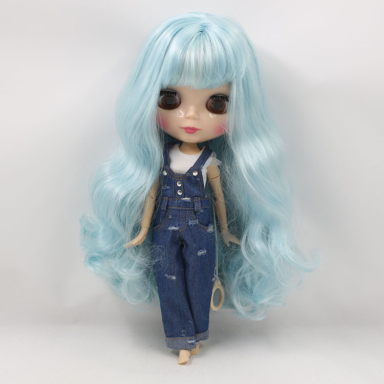 Toys & Hobbies Dolls & Stuffed Toys Factory Blyth Doll Nude Doll 280bl60054006 Long Wavy Hair With Bangs Light Blue 4 Colors For Eyes Suitable For Diy Providing Amenities For The People; Making Life Easier For The Population