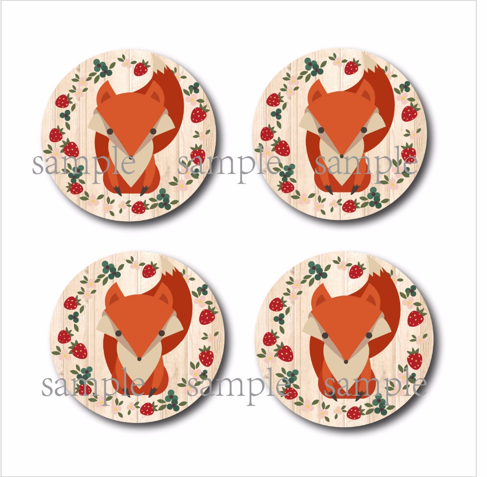 Set of 4 fox cup wood mdf Coasters Vintage Rustic Cabin Home Decor personalized wedding favor gifts Party decoration supply-in Coffee Cup & Saucer ...