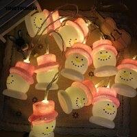 YINGTOUMAN Snownan Com Chapéu Vermelho Tipo de Bateria Lâmpada 10LED 1.5 M Luz Cordas da Festa de Casamento Do Feriado Do Natal Iluminação Da Decoração