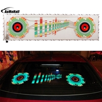 Thin Sheet With Adhesive Tape Colorful Car Sticker Music Rhythm LED Flash Lamp Sound Activated Light