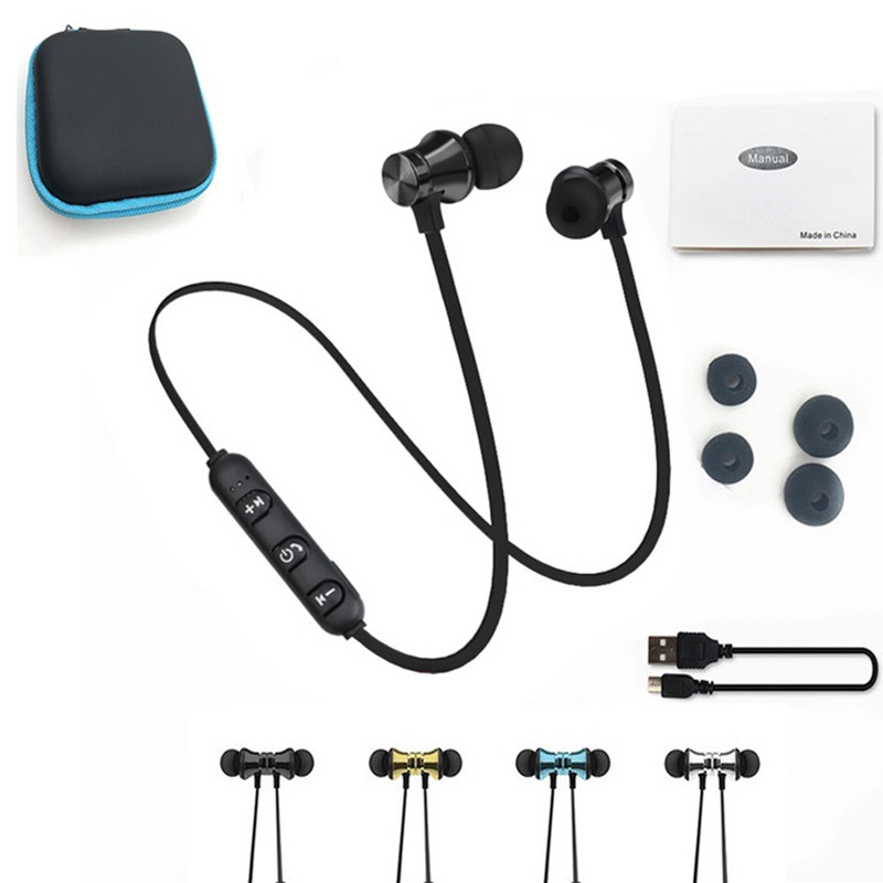 Bluetooth Wireless Headphone Sport Earphone Stereo Earbuds With Microphone Headset For iPhone Xiaomi Ecouteur Auriculares tebaurry s2 bluetooth earphone wireless headphone bluetooth headset sport stereo super bass earbuds with microphone for running