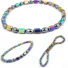 New Slimming Product Weight Loss Magnet Anklet Colorful Stone Magnetic Therapy B