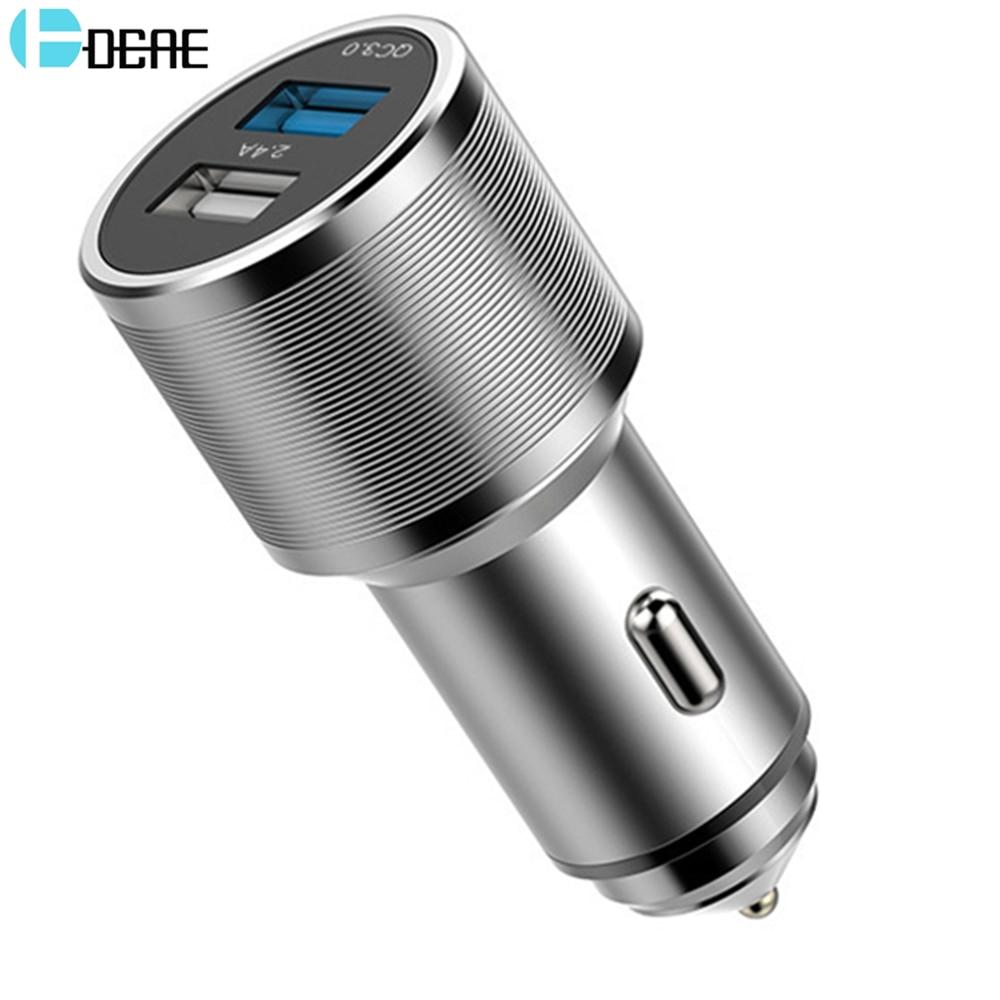 Cargador de coche USB dual Cargador rápido de aluminio universal - Accesorios y repuestos para celulares - foto 1