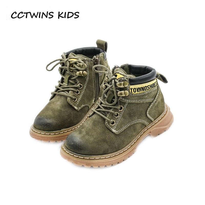 CCTWINS KIDS 2018 Autumn Baby Boy Brand Martin Children Fashion Genuine  Leather Shoe Girl Black Ankle Boot Toddler BM079 3c771e411db5