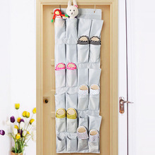 Over the Door hanging storage bag shoe organizer with 24 compartments, Free shipping, low price