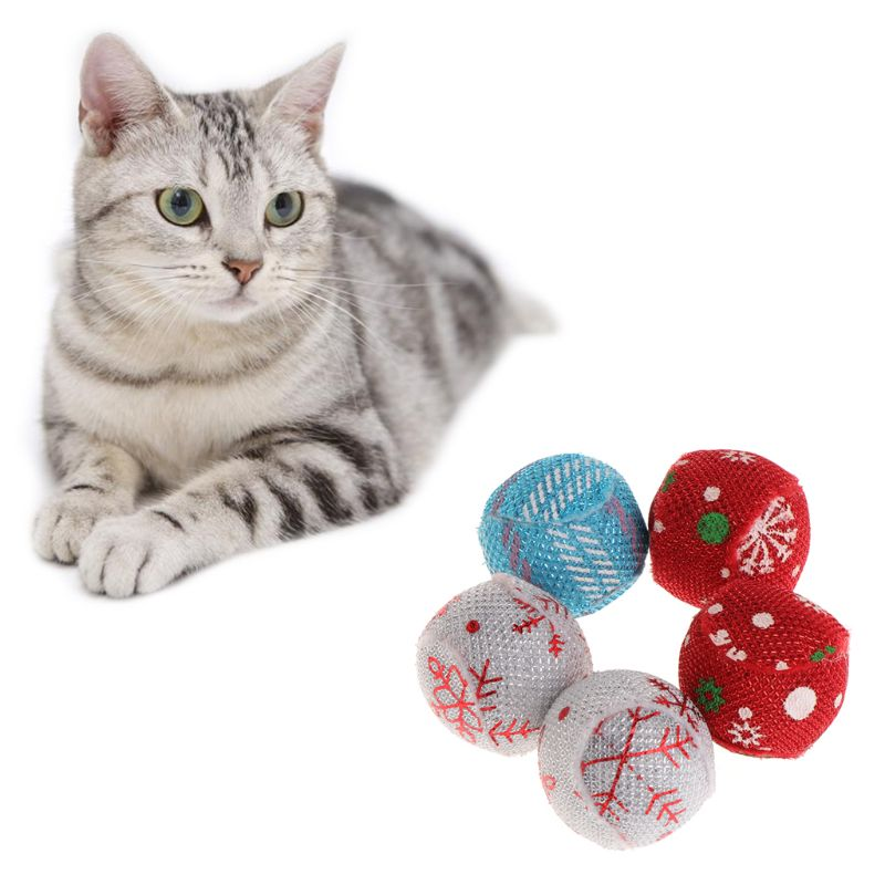 Kitten Christmas.Us 1 14 22 Off 5pcs Pets Kitten Teaser Interactive Funny Supply Cat Toys Christmas Ball Catnip Yh Ktsf In Cat Toys From Home Garden On Aliexpress