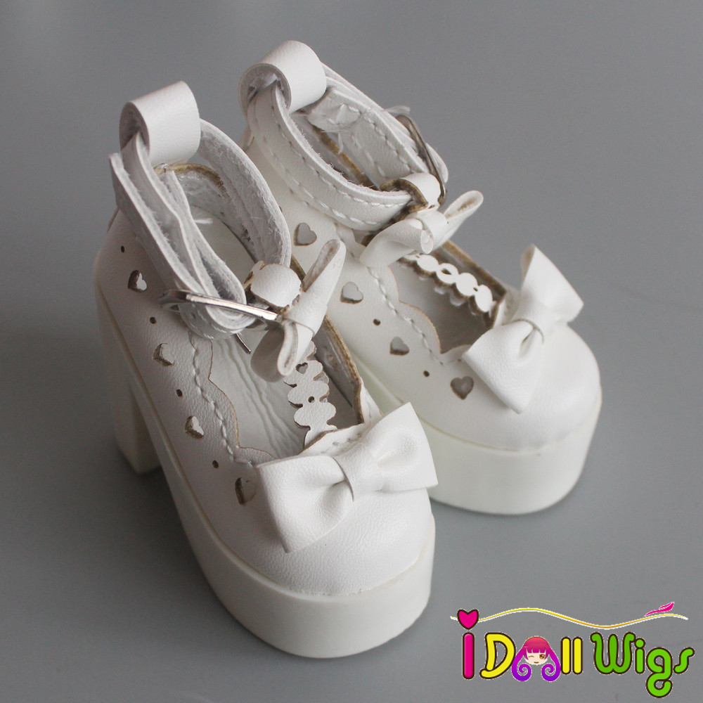 1 Pair 1/3 SD/BJD Doll Shoes Black White High-heeled Shoes For 1/3 BJD Dolls