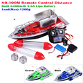 Upgrade Version 80-300M Remote Control Boat RC Fishing Boat Built-in 5200mAh Lipo Battery Red/Blue/Green 3 Colors Available